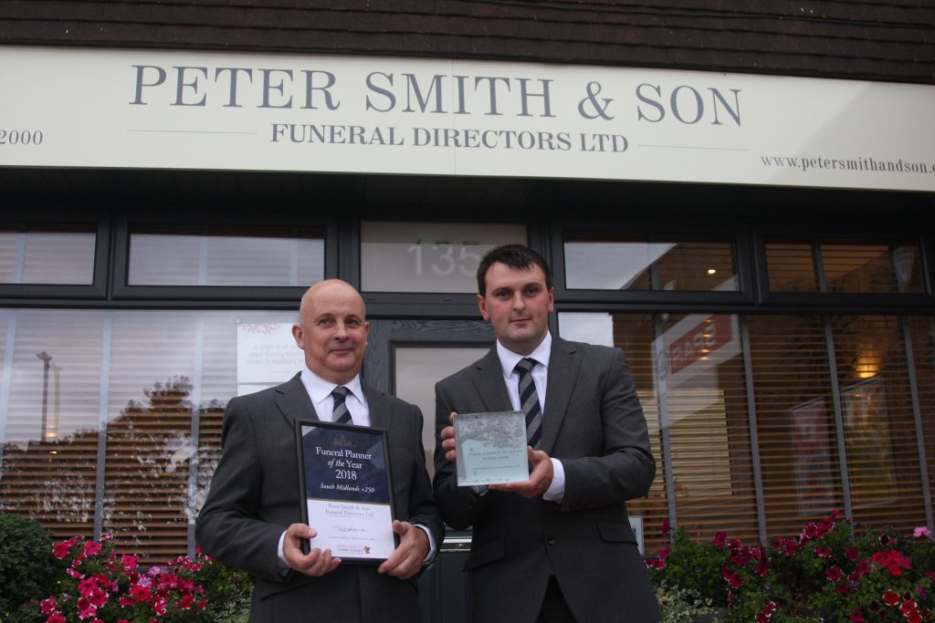 Peter and Sean Funeral Planner of the Yeart 2018