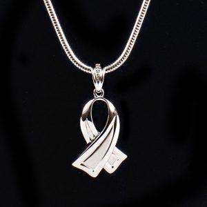 Miniature Awareness Ribbon Pendant