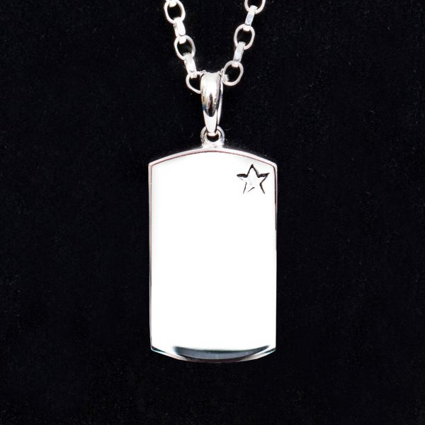 Military-Style Dog Tag Pendant