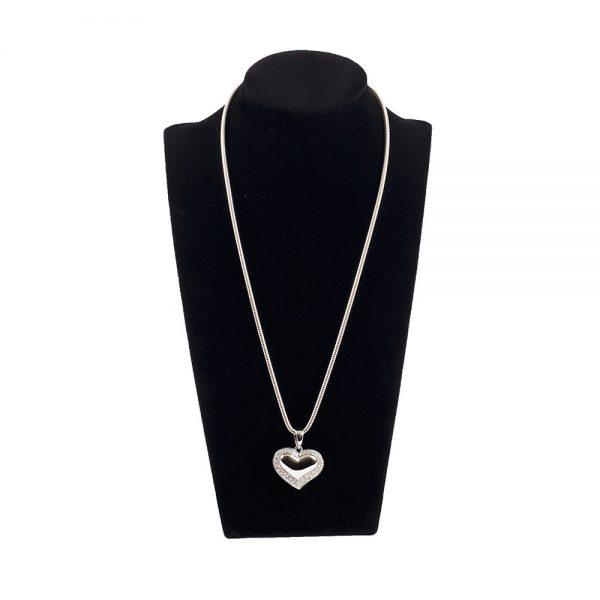 Heart Pendant with Diamente Detailing