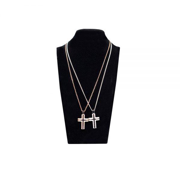 Rose Gold / Silver Cross Pendant