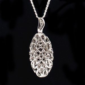 Scrolled Large Drop Pendant