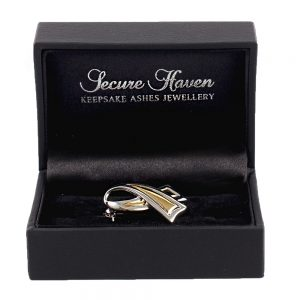 Petite Gold & Silver Awareness Brooch