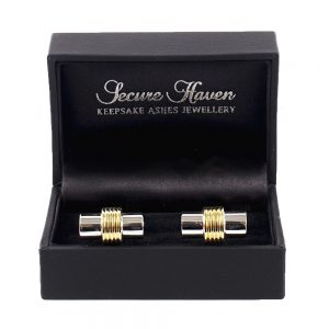 Silver & Gold Plated Barrel Cufflinks