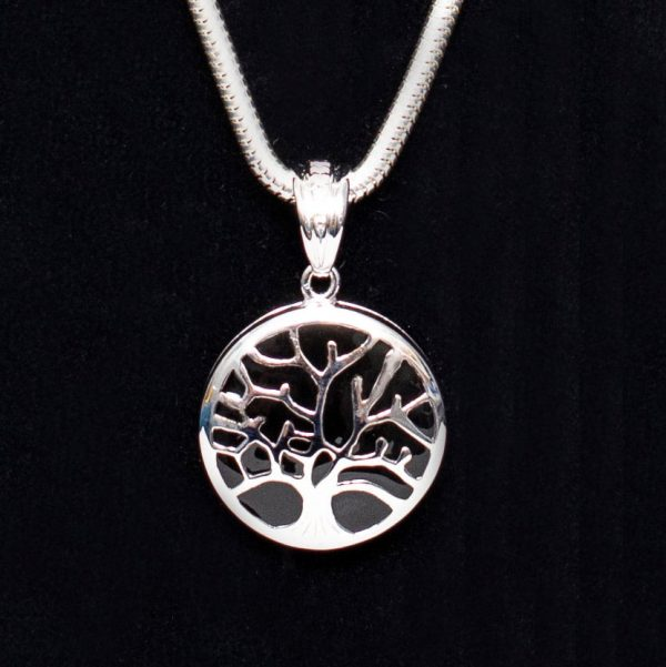 Tree of Life Pendant with Black Detail